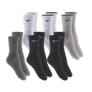 Kit de meias esportivas cano alto sortidas Torp