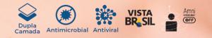 Banner com as principais características da máscara antiviral Torp